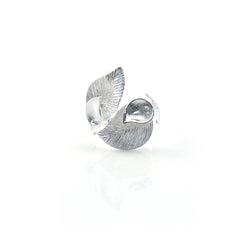 Duo Carob Leaf Wrap Sterling Silver Ring