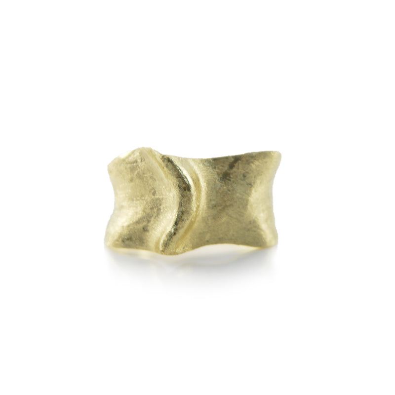 Pointy Mount Gold Sterling Silver Ring