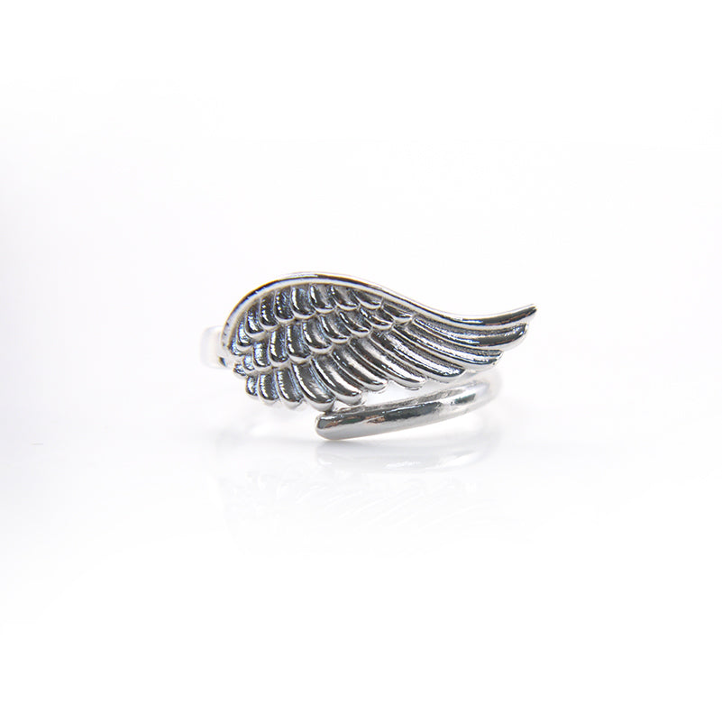 Uno Wing Silver Ring