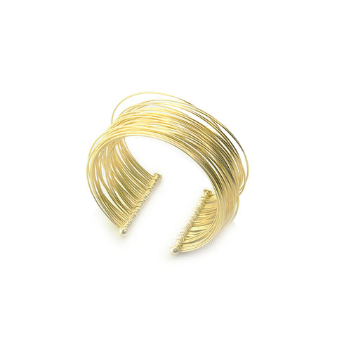 Infinity Wiry Sling Gold Sterling Silver Bangle