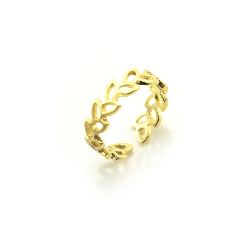 Cutout Sharp Corner Gold Sterling Sliver Ring