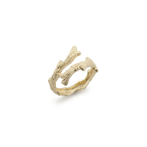 Branches Gold Sterling Sliver Ring