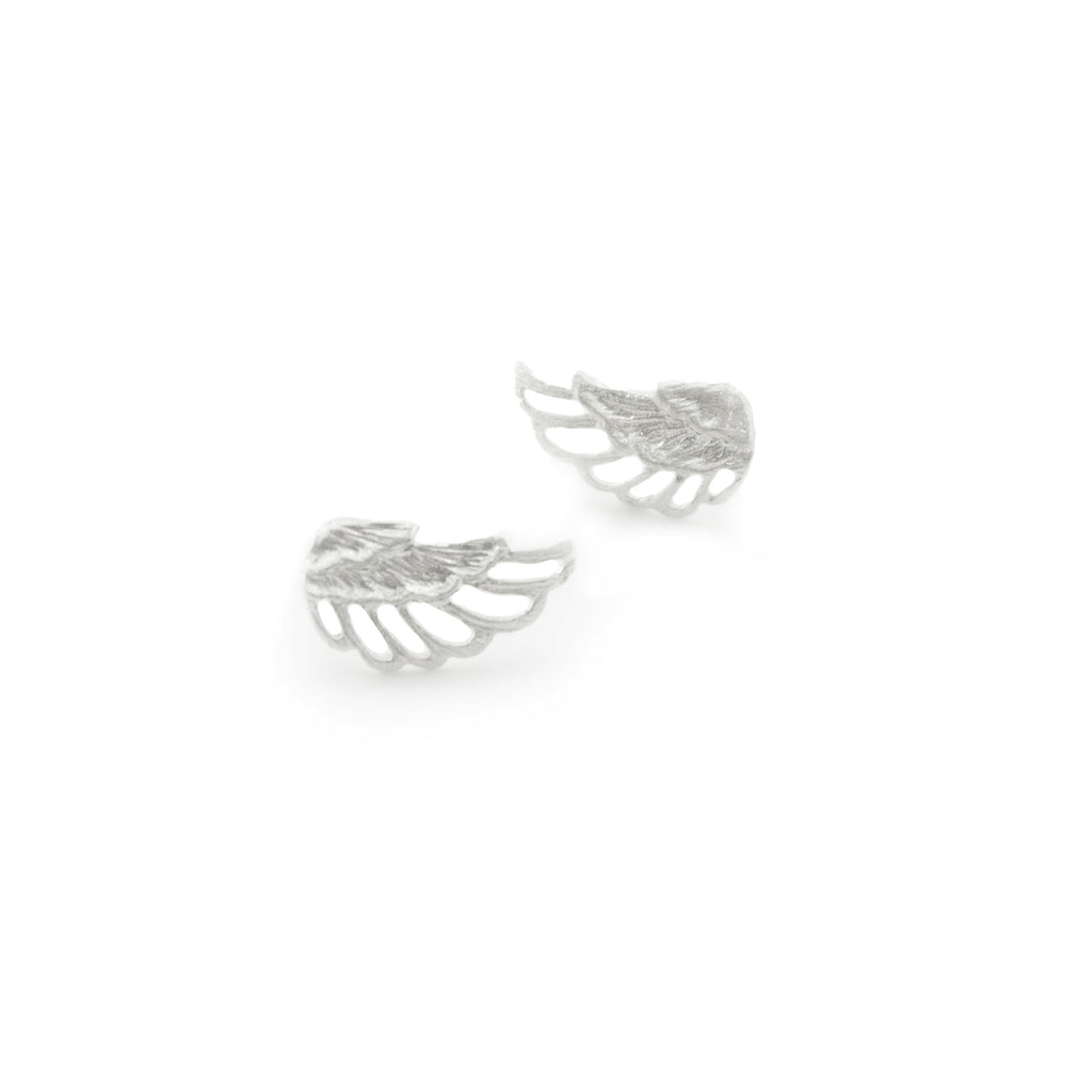 Cutout Wings Sterling Sliver Studs