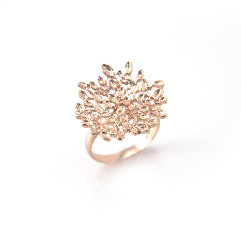 Sparkle Banyan Rose Gold Sterling Silver Ring