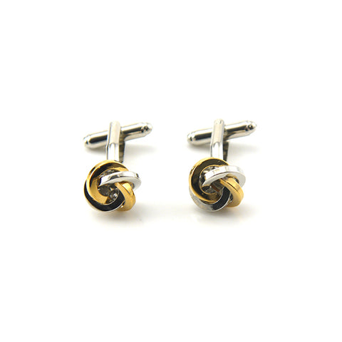 Classic Loop Knot Gold & Silver Cufflinks