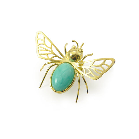 Bug Gold Sterling Sliver Brooch
