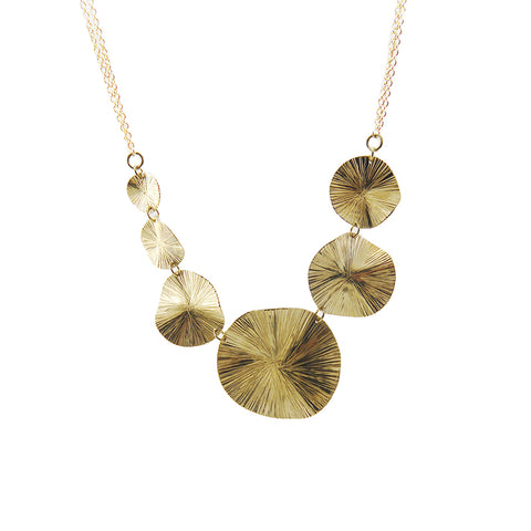 Chain of Orbicular Gold Short Necklace