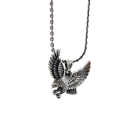 The Eagle with Open Wing Sterling Silver Necklace