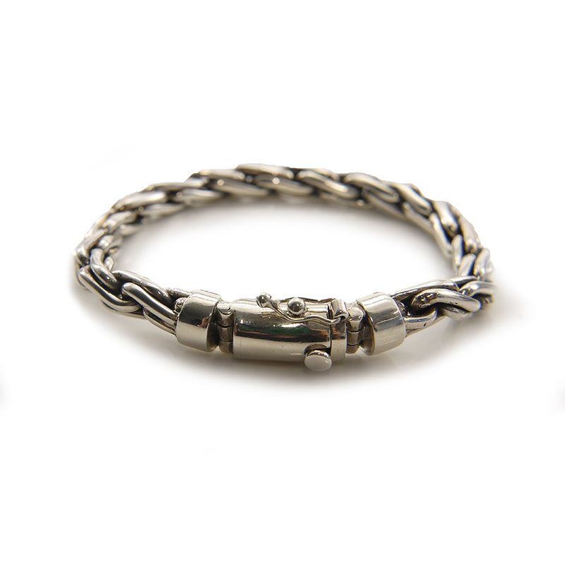 Rope Chain Sterling Silver Bracelet
