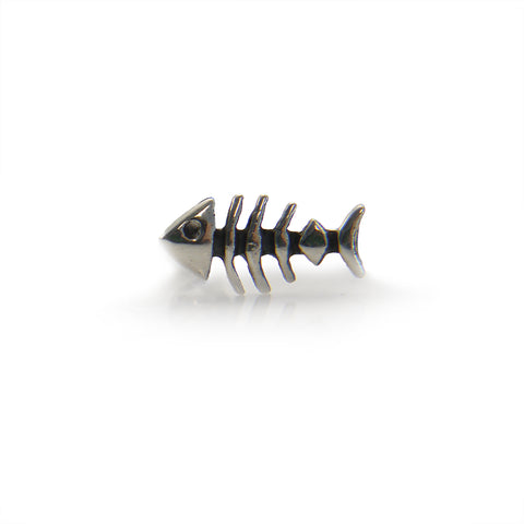 Fish Bone Sterling Sliver Studs (One Piece)