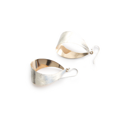 Shinny Bell Rose Gold & Sliver Sterling Silver Earrings