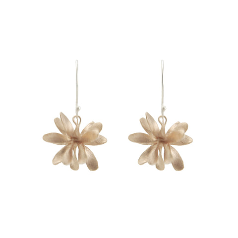 Bromeliad Rose Gold Sterling Silver Earrings