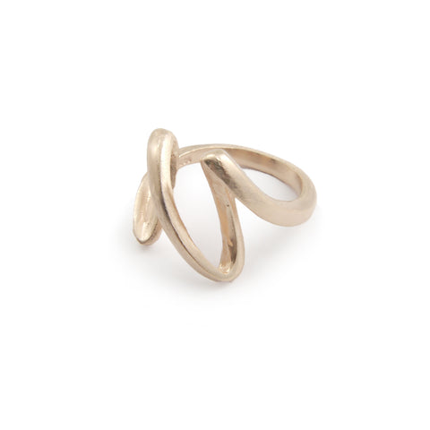 Heart Beat Rose Gold Sterling Silver Ring