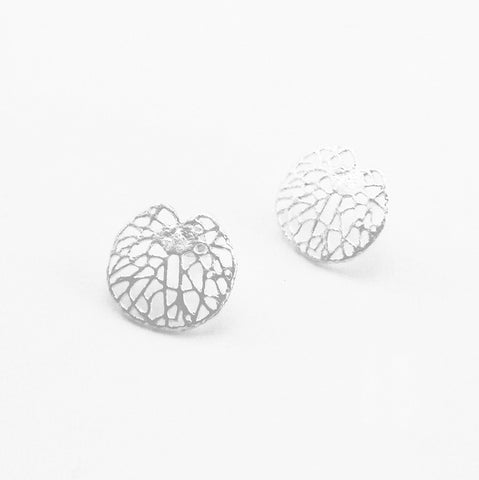 Nuphar Advena Sterling Silver Studs