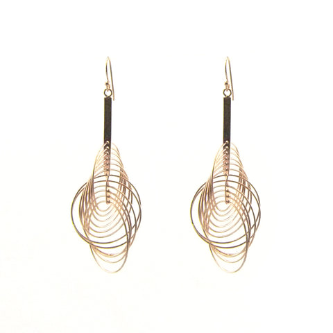 Big Whisker Rose Gold Sterling Silver Earrings