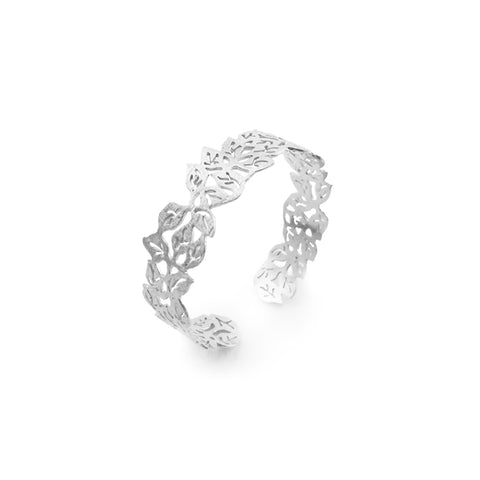Small Leaf Pattern Sterling Sliver Bangle