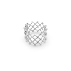 Net Patten Sterling Sliver Ring