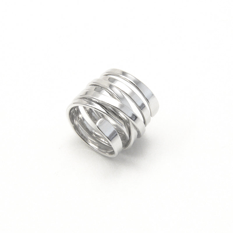 Thick Multi-Line Sliver Ring