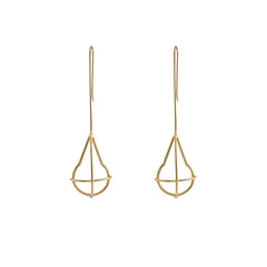 Waterdrop Geometry Gold Drop Earrings