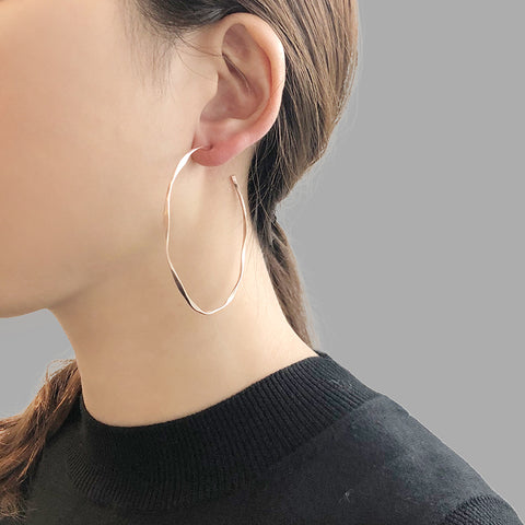 Large Hoop Rose Gold Earrings