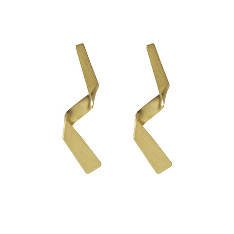 Twisted Gold Sterling Sliver Earrings