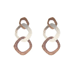 Butout waterdrop Rose Gold Silver Sterling Sliver Earrings