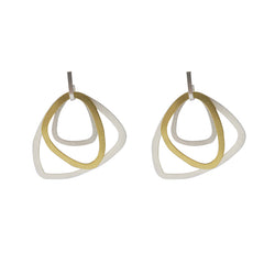 Medium Butout waterdrop Gold Silver Sterling Sliver Earrings
