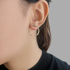 3D Double C Gold Sterling Sliver Studs