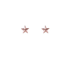 3D Star Rose Gold Sterling Silver Studs