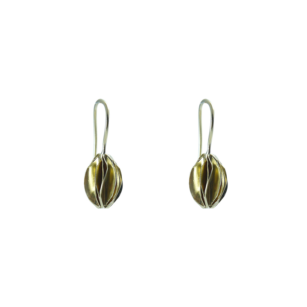 Fruit Shape Gold Sterling Silver loop earrings