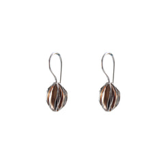 Fruit Shape Rose Gold Sterling Silver loop earrings
