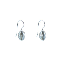 Fruit Shape Sterling Silver loop earrings