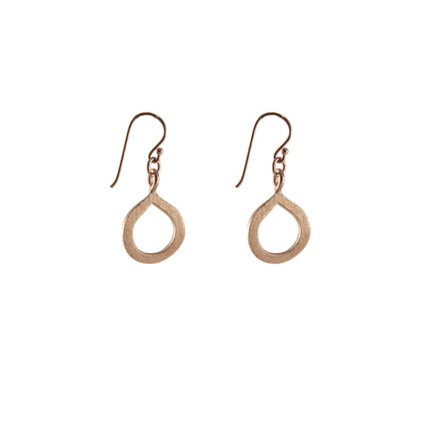 Half Infinity Rose Gold Earrings