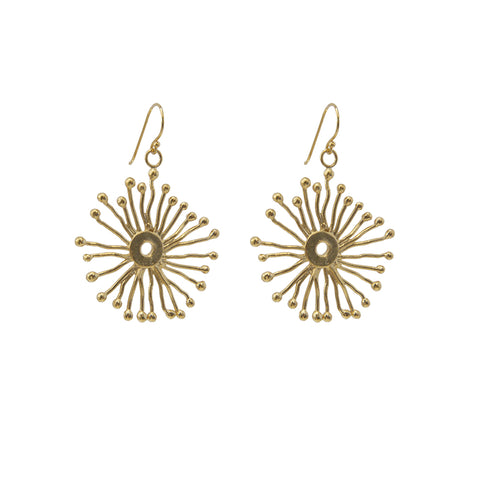Spinning Sparkle Gold (Medium Size) Earrings