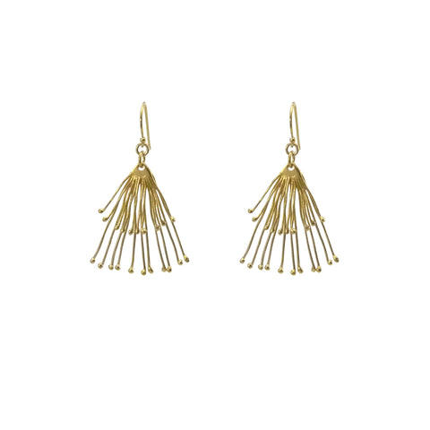 Duo Fan Gold Earrings