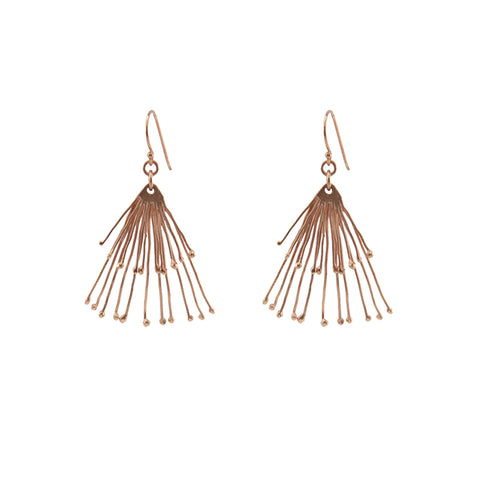 Duo Fan Rose Gold Earrings