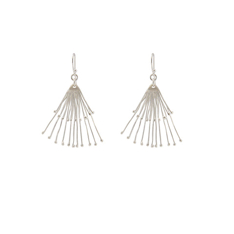 Duo Fan Sliver Earrings