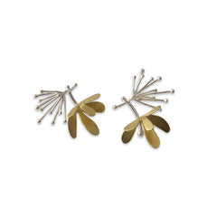 Butterfly Flower Gold Silver Studs