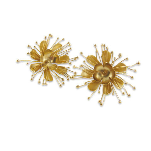 Small Flowery Gold Studs