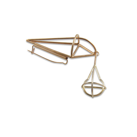 Geometry Diamond Sliver & Rose Gold Brooch