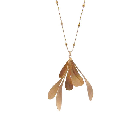 Spatulate Octave Rose Gold Long Necklace