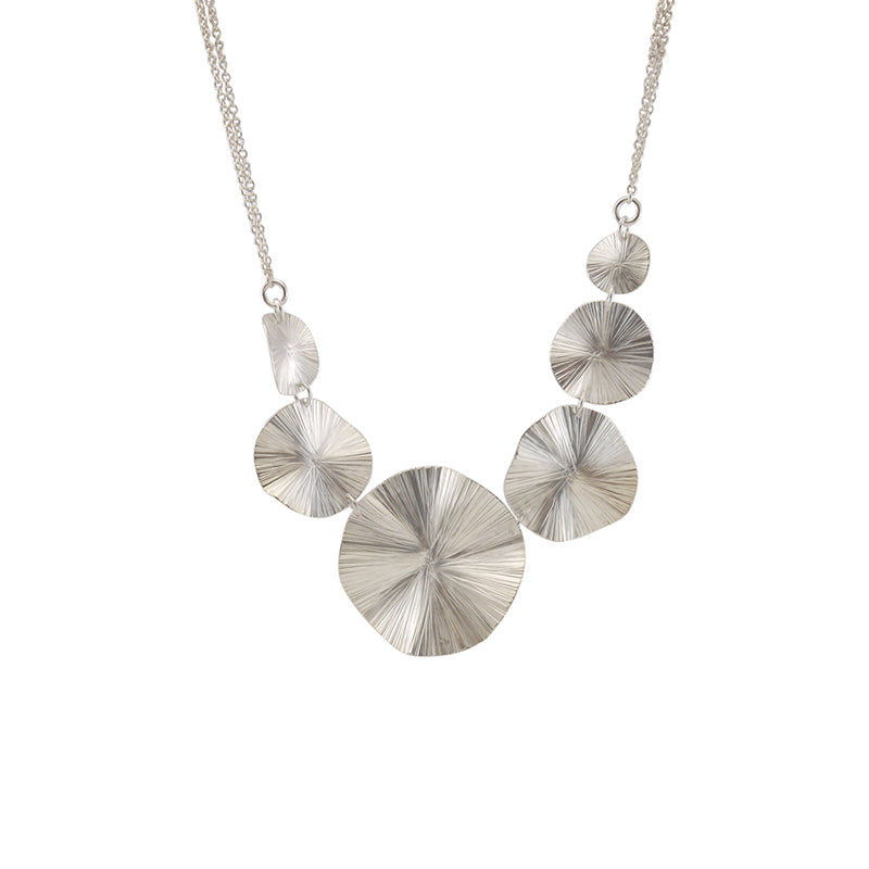 Chain of Orbicular Sliver Short Necklace