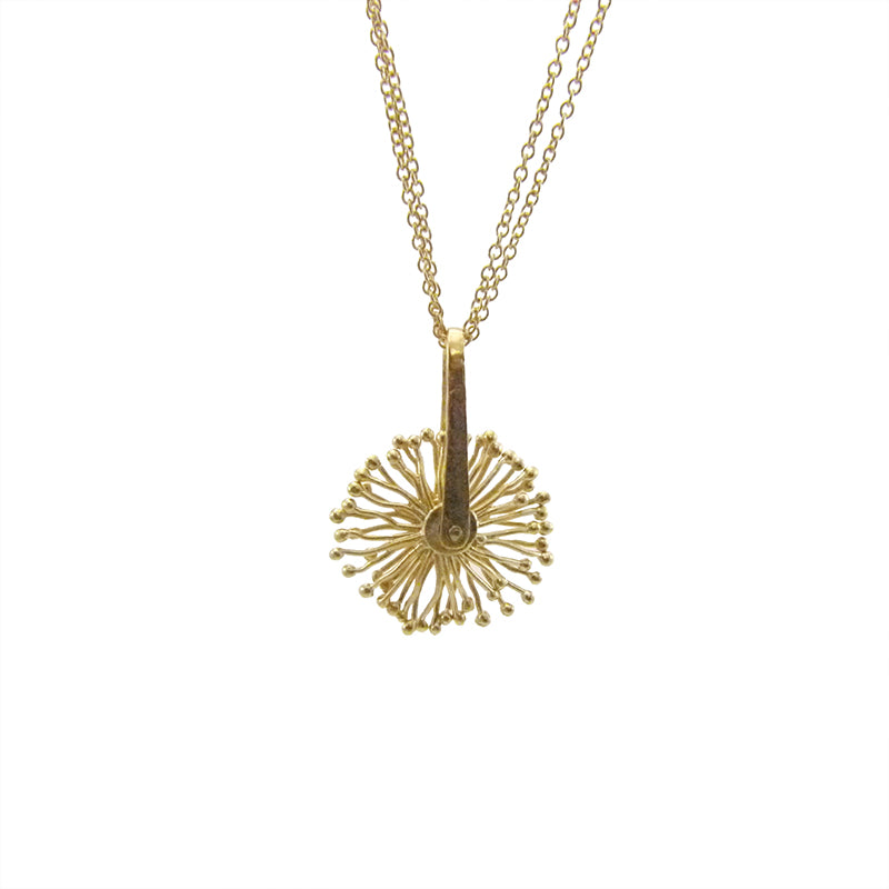 Mini Spinning Sparkle Gold Short Necklace