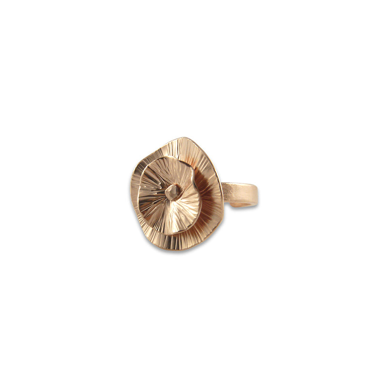 Mini Round Chip Rose Gold Ring