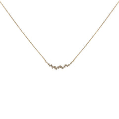 10K Real Gold 0.8ct Diamond Necklace