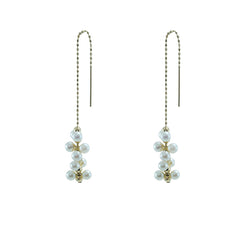 Molecular 18K Real Gold Akuya Pull-Thru Earrings