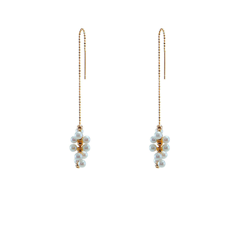 Molecular 18K Real Rose Gold Akuya Pull-Thru Earrings