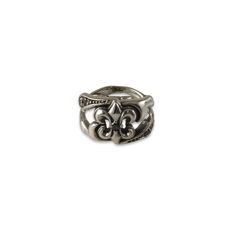 Gothic Crown Silver Ring