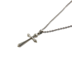 Shinny Cross Sterling Silver Necklace