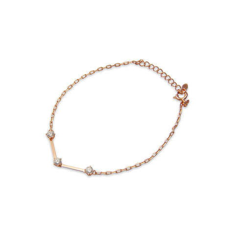 Twist with stones RoseGold Sterling Silver Bracelet